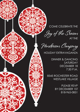 Classic Ornaments Invitations