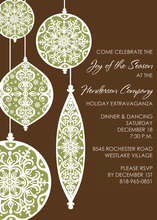 Unique Ornaments Invitation