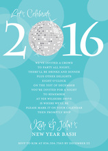 Customize Year Number Disco Ball Invitation