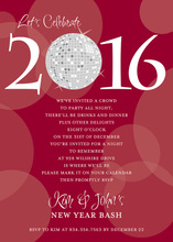 Customize Year Number Disco Holiday Invitation