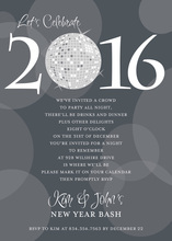 Customize Year Number Disco Light Invitation