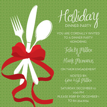 Formal Holiday Dinner Invitation