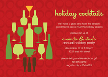 Extra Holiday Cocktails Invitation