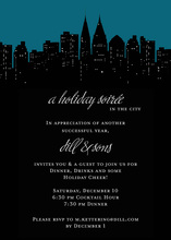 Spectacular City In Holiday Invitations