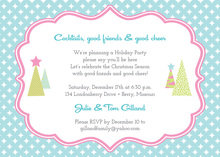 Super Star Holiday Trees Invitation