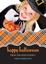 Halloween Plaid Photo Cards
