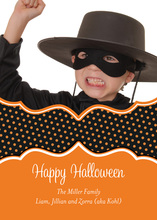 Halloween Polka Dots Photo Cards