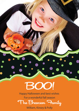 Halloween Candy Dots Photo Cards