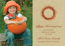 Thanksgiving Wreath Photo Cards