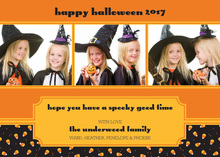 Candy Corn Treats Halloween Festive Photo Cards