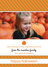 Modern Halloween Stripes Photo Cards