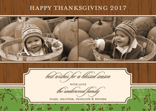 Woodgrain Special Thanksgiving Photo Cards