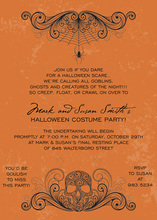 Deadly Orange Skull Invitation
