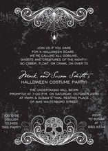 Dark Side Halloween Skull Invitation