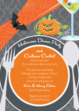 Halloween Simple Placesetting Invitation