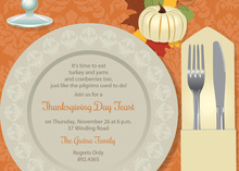 Modern Autumn Placesetting Invitation