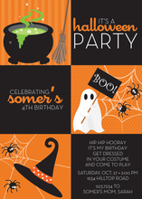 Three Halloween Symbols Invitation