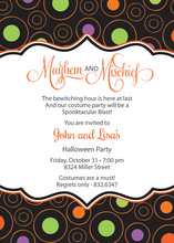 Large Colorful Dots Bookplate Frame Invitations
