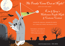 Freaks Come-Out Halloween Invitations