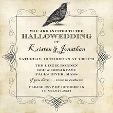 Halloween Crow Invitation