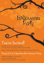 Tree Web Halloween Invitation