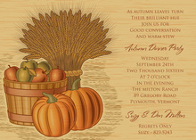 Wheat Harvest Autumn Invitations