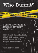 Murder Case Mystery Story Invitations