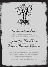 Till Death Do Us Part Halloween Invitations