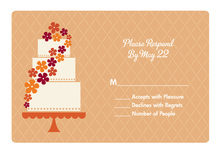 Autumn Floral Cake RSVP Cards