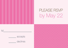 Girly Dots and Stripes RSVP Cards