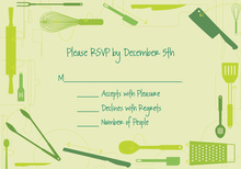Cooking Directions Granny Smith RSVP Cards