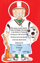 Football Boy Kids Sport Invitations