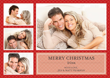 Spectacular Holiday Red Tile Photo Cards