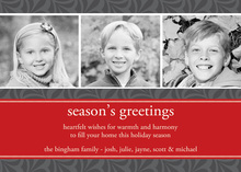 Abstract Holiday Leaf Khaki Photo Cards