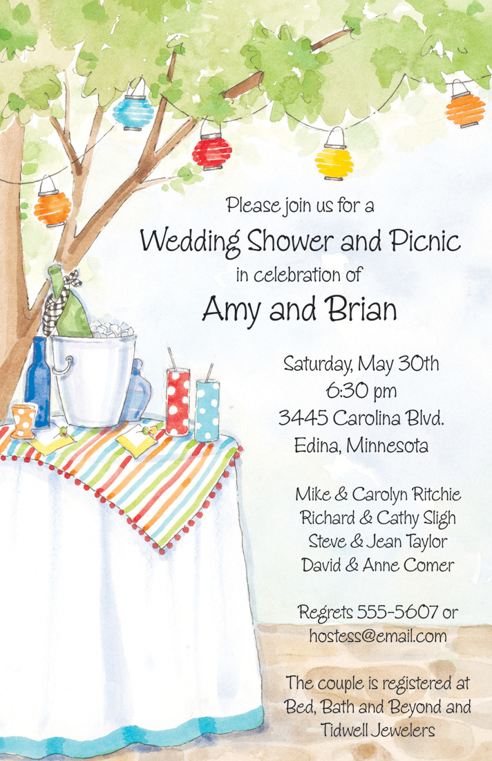 Casual Outdoor Party Invitations