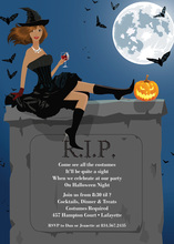 African American Halloween Witch Invitation