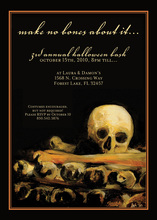 Frightfully Scary Skull Halloween Invitations