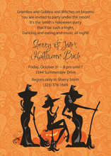 Trio Witches Waiting Halloween Invitations