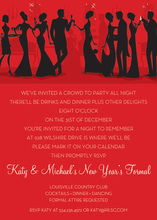 Modern Holiday Friends Invitations