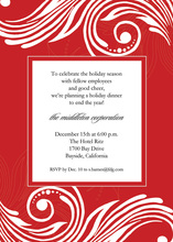 Holiday Red Swirl Invitations