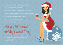Asian Cool Holiday Girl Invitations