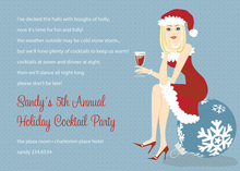 Blonde Cool Holiday Girl Invitations