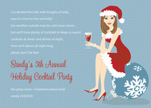 Brunette Holiday Girl Invitations