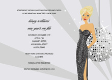 Pretty Blonde Disco Girl Bridal Shower Invitations