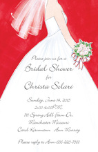 Beautiful White Wedding Dress Invitations