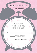 Time For Pink RSVP Cards