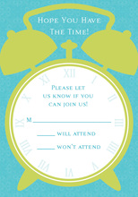 Time For Teal RSVP Cards
