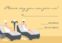 Spa Day Vanilla RSVP Cards