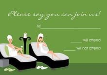 Spa Day Cucumber RSVP Cards