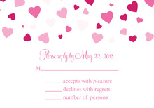 Shower Of Hearts Valentine RSVP Cards